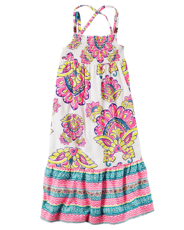 Vestido CARTERS Smocked Paisley Maxi Dress