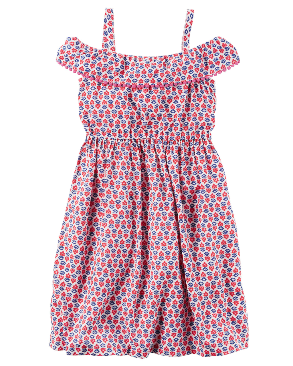 Vestido CARTERS Silky Pom-Pom Ruffle Dress
