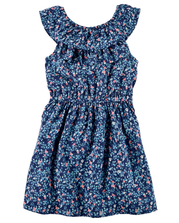 Vestido CARTERS Floral Ruffle Dress