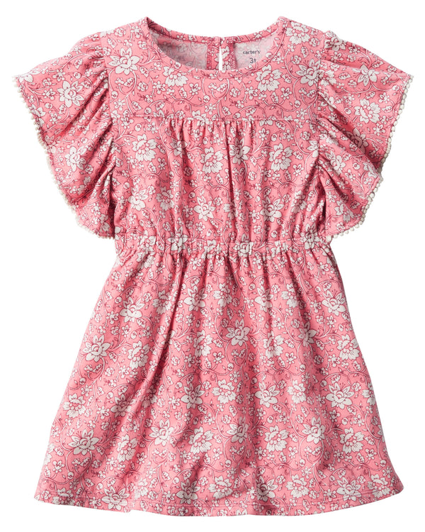 Vestido CARTERS Ruffle-Sleeve Floral Dress