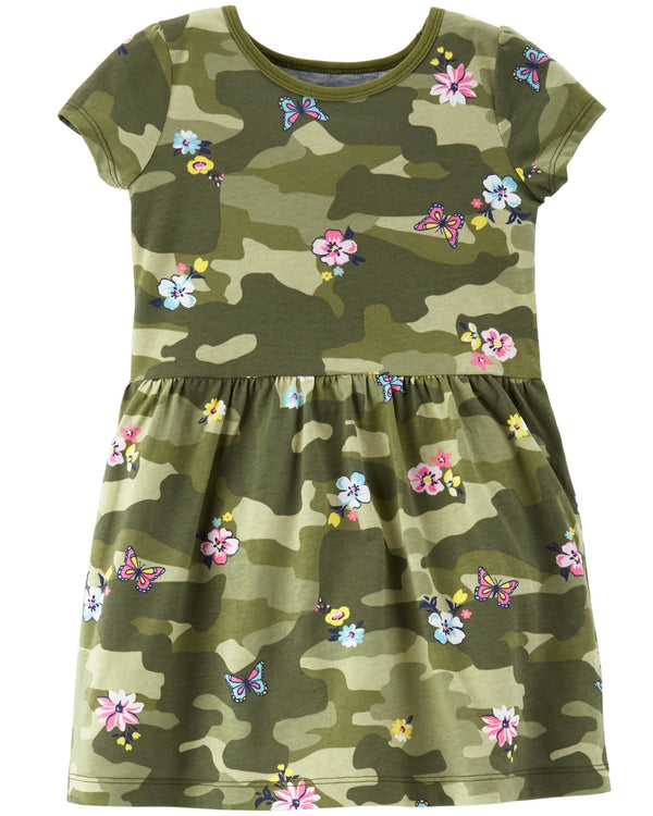 Vestido CARTERS Floral Camo Jersey Dress