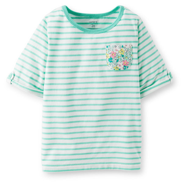 Remera Carters 3/4-Sleeve Striped Tee