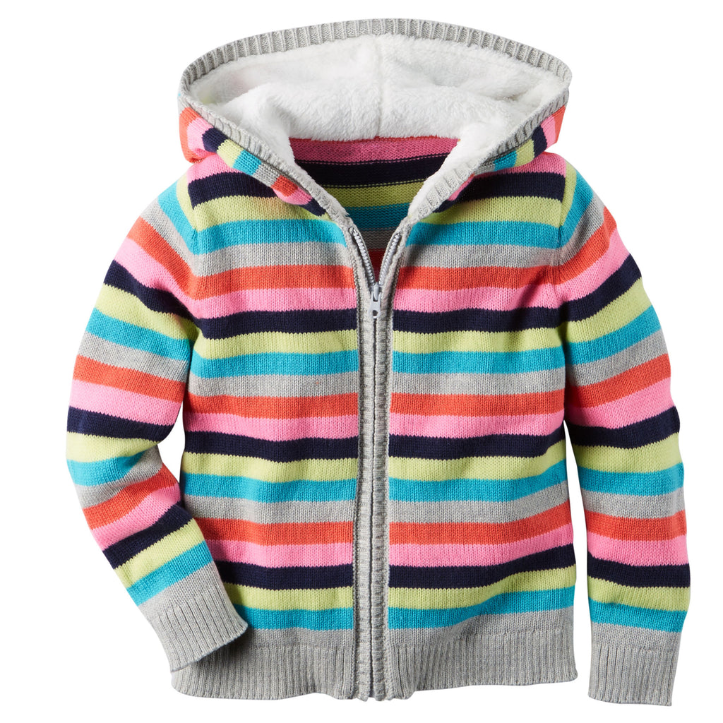 Campera CARTERS Striped Sweater Knit Hoodie
