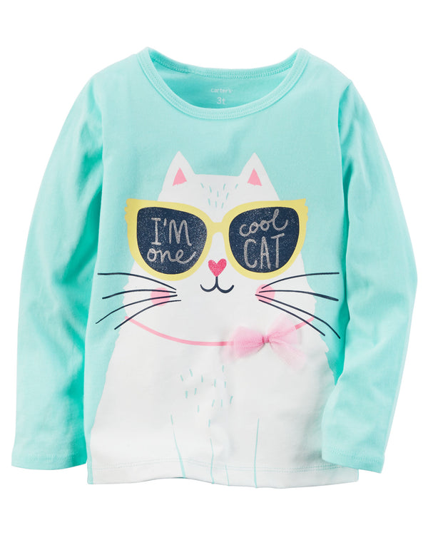 Remera CARTERS Long-Sleeve One Cool Cat Graphic Tee