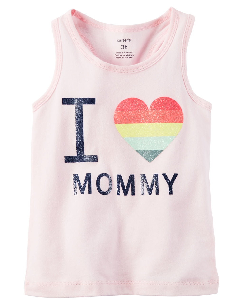 Musculosa CARTERS I Heart Mommy Glitter Graphic Tank