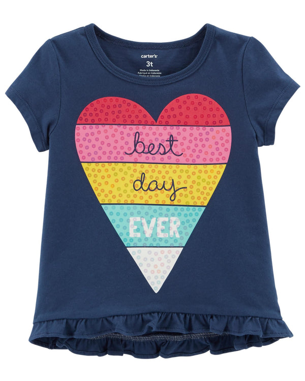 Remera CARTERS Best Day Ever Hi-Lo Matchtastic Tee