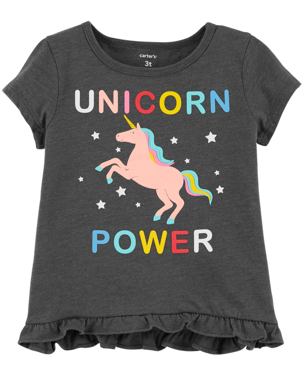 Remera CARTERS Unicorn Power Hi-Lo Ruffle Tee