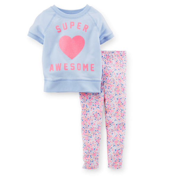 Conjunto CARTERS 2-Piece Top & Capri Legging Set