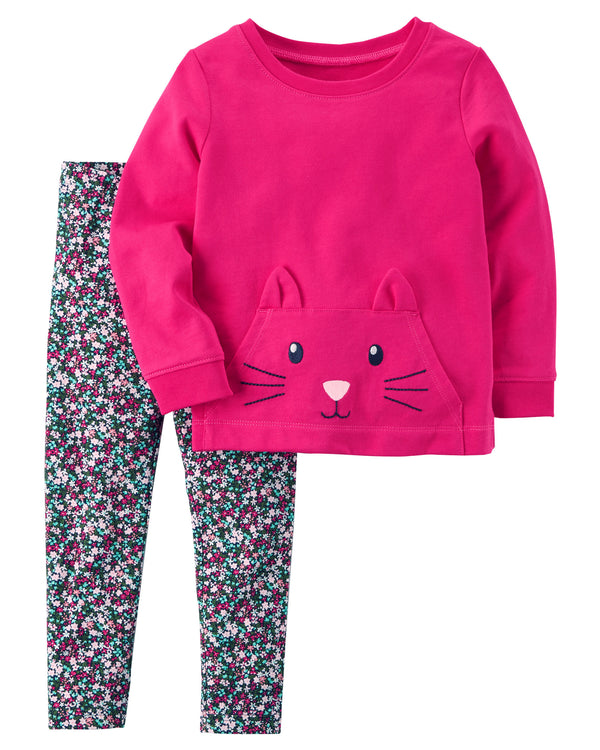 Conjunto CARTERS 2-Piece Character Top & Legging Set