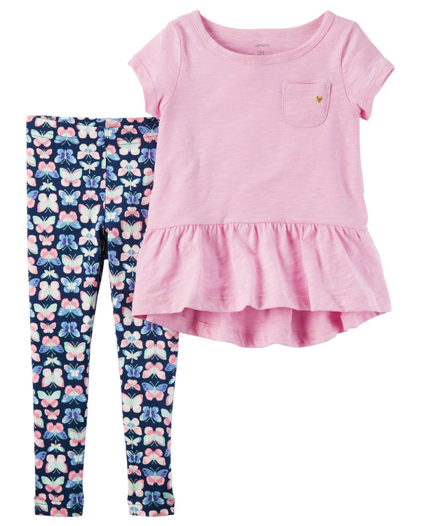 Conjunto CARTERS 2-Piece Peplum Tunic & Legging Set