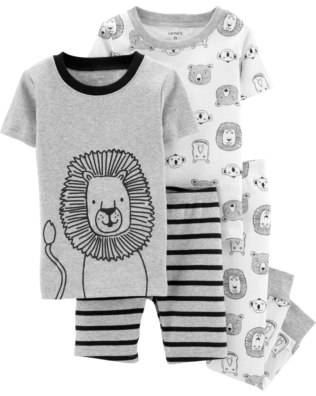 Pack de pijamas CARTERS 4-Piece Lion Snug Fit Cotton PJs