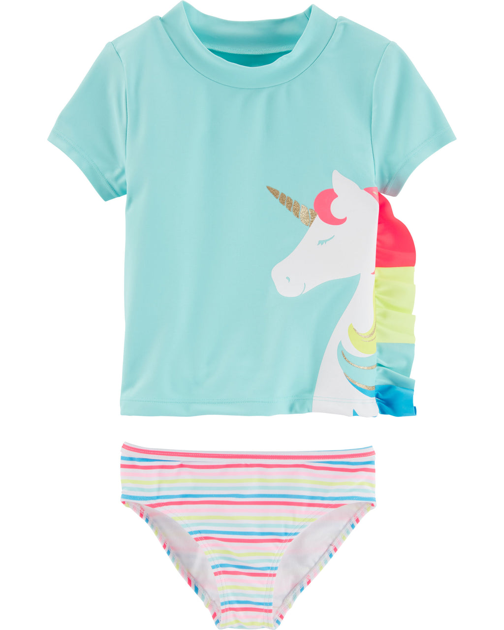 Malla CARTERS Unicorn 2-Piece Rashguard Set