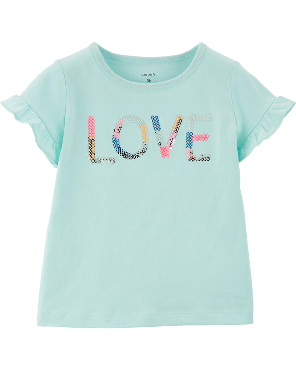Remera CARTERS Sequin Love Jersey Tee