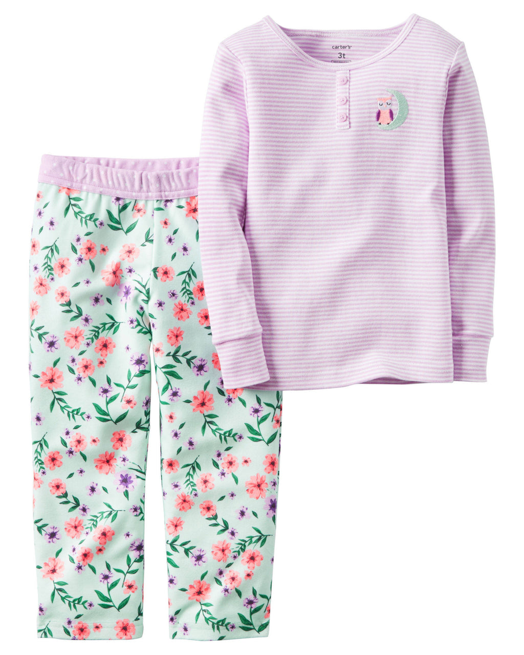 Pijama CARTERS 2-Piece Cotton & Fleece PJs