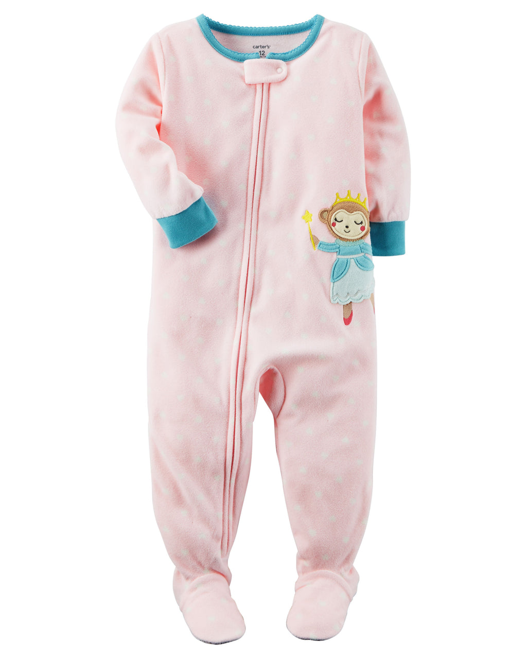 Pijama CARTERS 1-Piece Monkey Fleece PJs