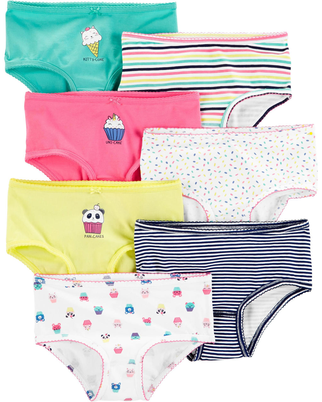 Pack de bombachas CARTERS 7-Pack Stretch Cotton Undies