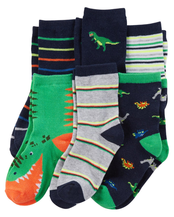 Pack de Medias CARTERS 6-Pack Dinosaur Socks
