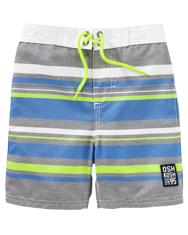 Malla OSHKOSH Neon Stripe Swim Trunks
