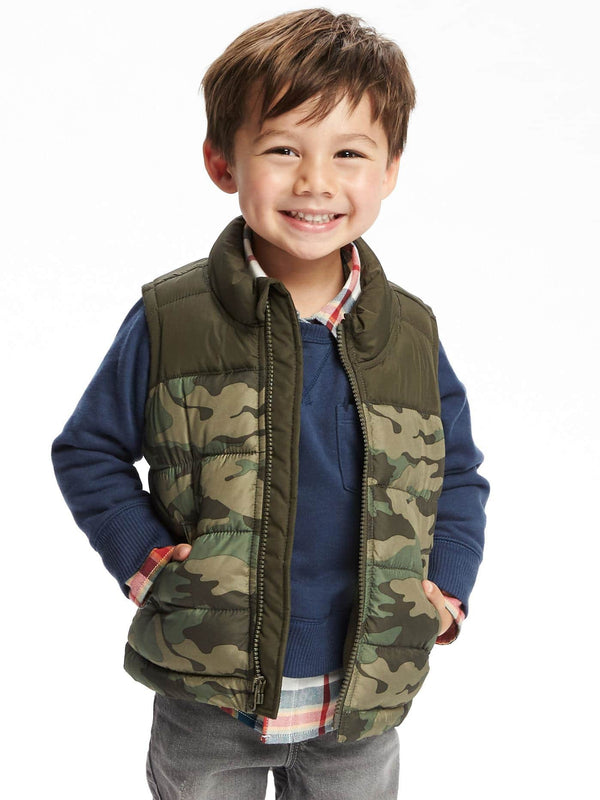 Chaleco OLDNAVY Printed Frost-Free Vest