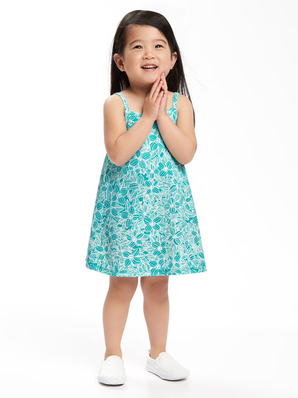 Vestido playero OLD NAVY Printed Cami Swing Dress