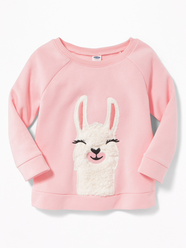 9a8b43bb8 Sweater OLD NAVY Plush Critter-Graphic Tunic Sweatshirt for Toddler Girls