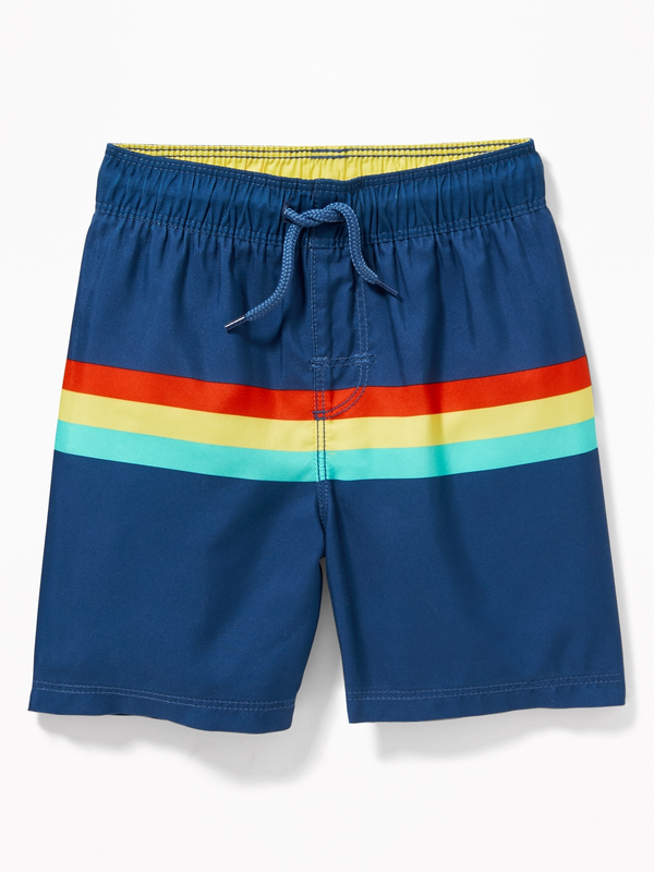 Malla OLD NAVY Functional Drawstring Multi-Stripe Swim Trunks