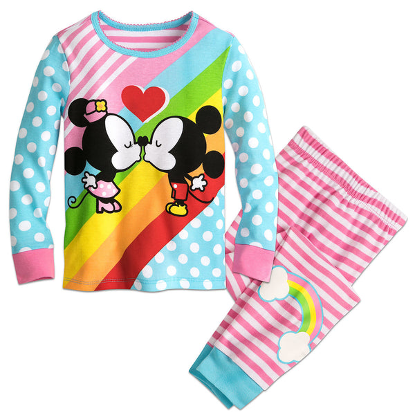 Pijama DISNEY Mickey and Minnie Mouse Kiss PJ PALS for Girls
