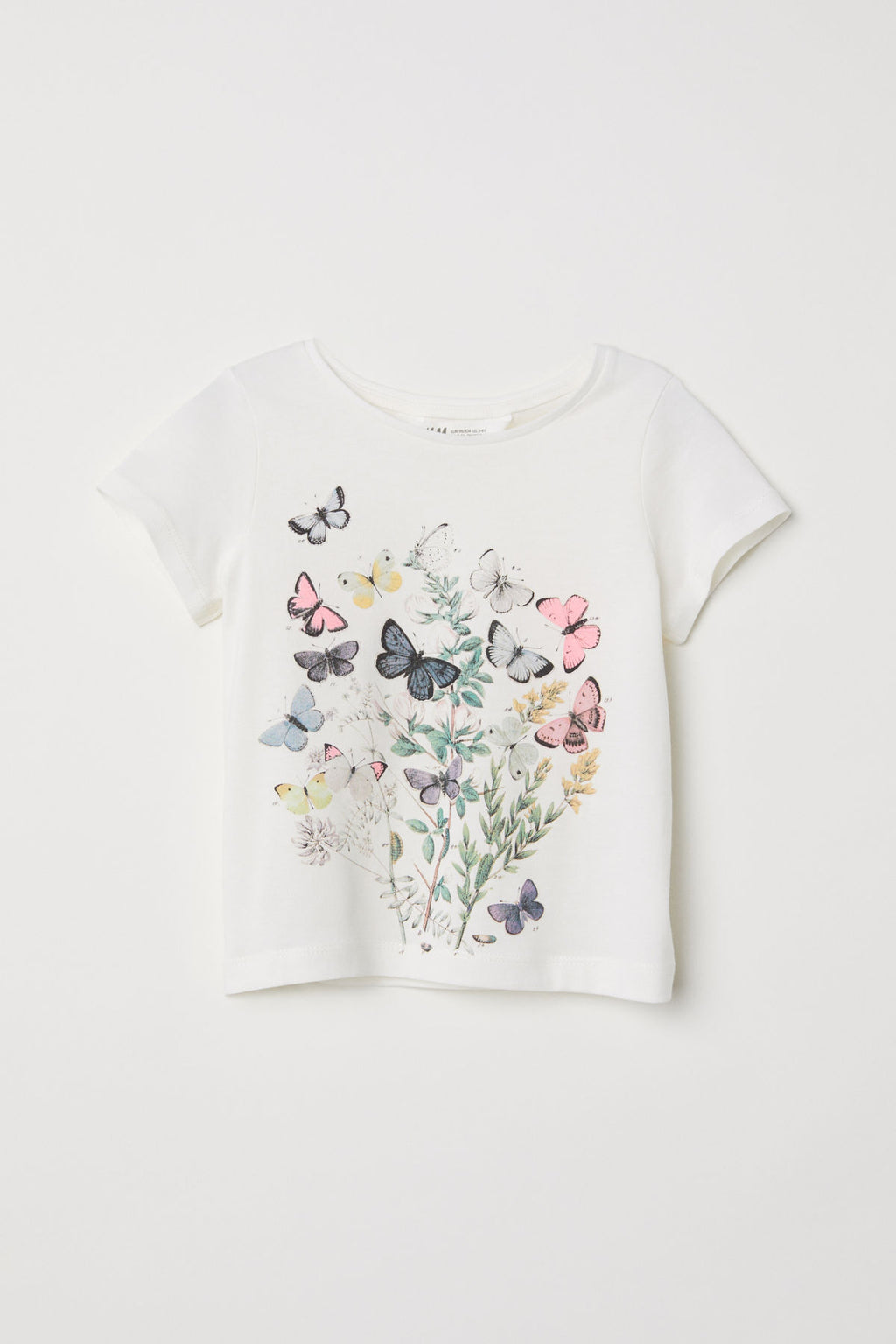 Remera H&M Jersey Top with Printed Design