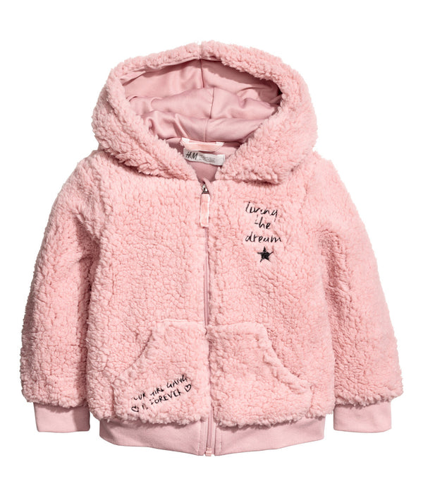 Campera H&M Pile Hooded Jacket
