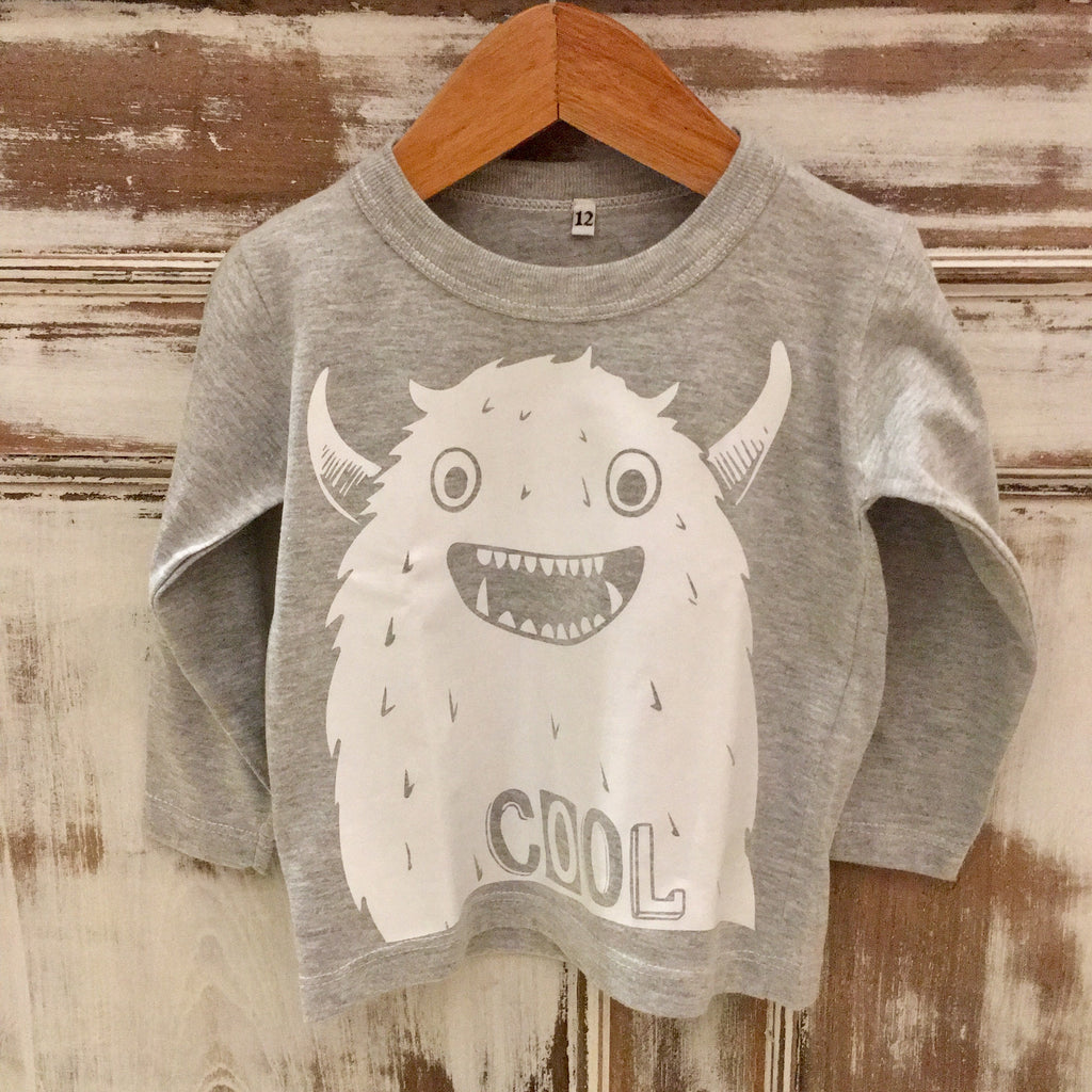 Remera  Cool Little Monster Grey