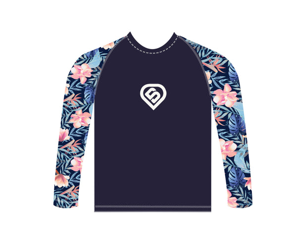 Copia de Remera mangas largas  con Protección UV Baltic Floral