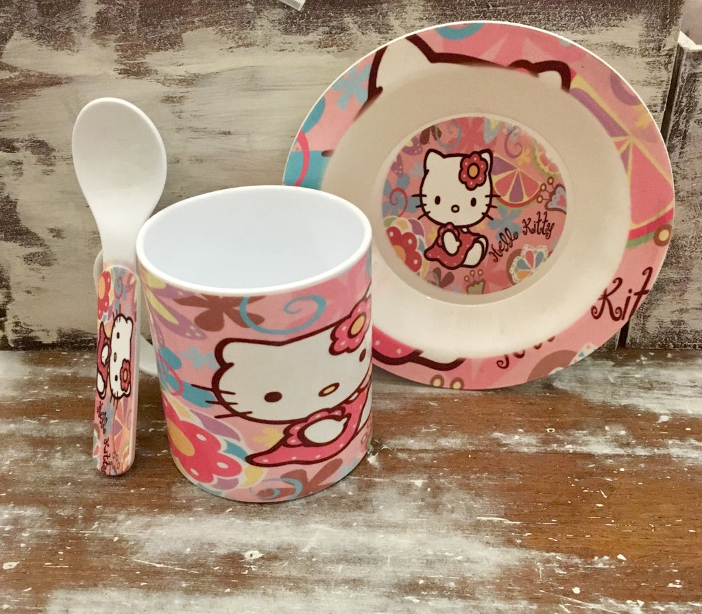 Set de taza - plato y cuchara Hello Kitty