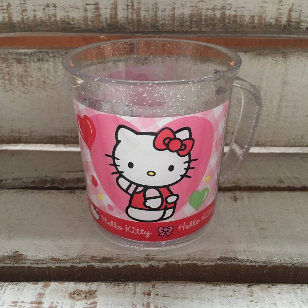 Taza Acrilico Glitter Hello Kitty