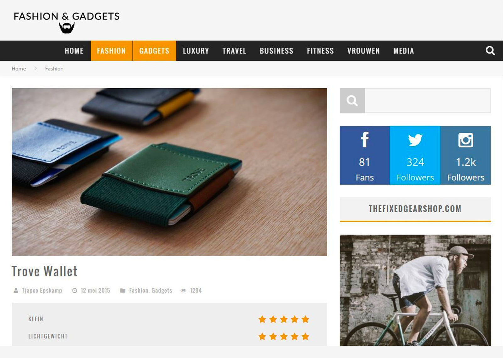 Review on Fashion & Gadgets
