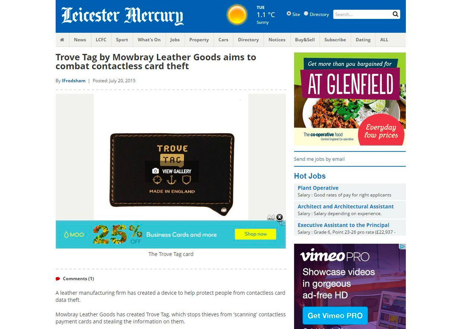 Review by Leicester Mercury