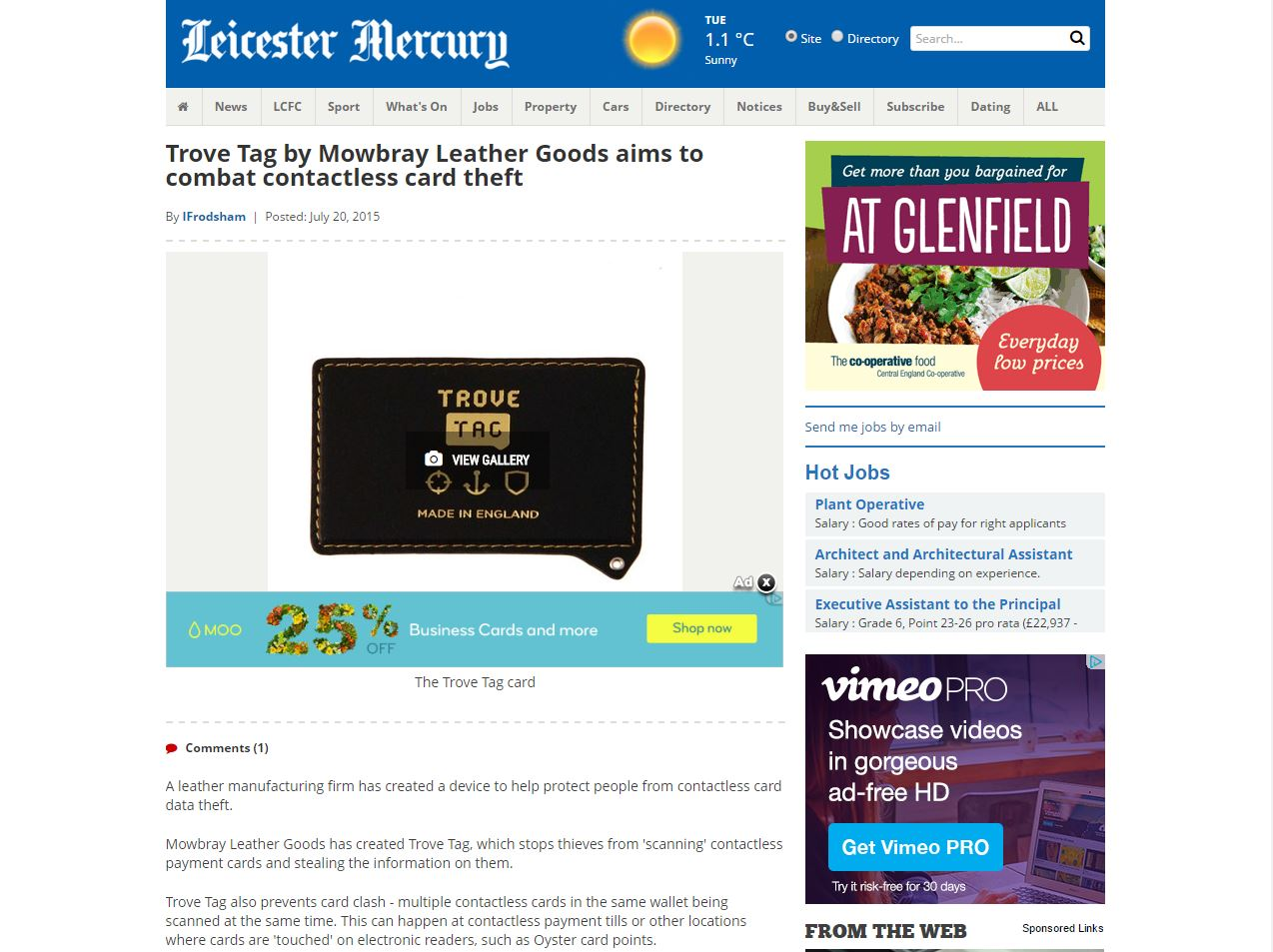 Review of TROVE TAG by Leicester Mercury