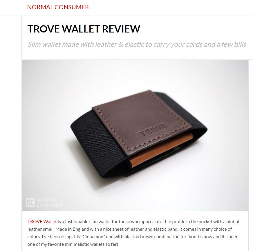 TROVE Wallet Review by normalconsumer.com