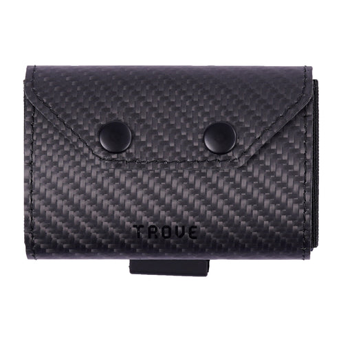 TROVE Coin Caddy: Black Carbon Fibre