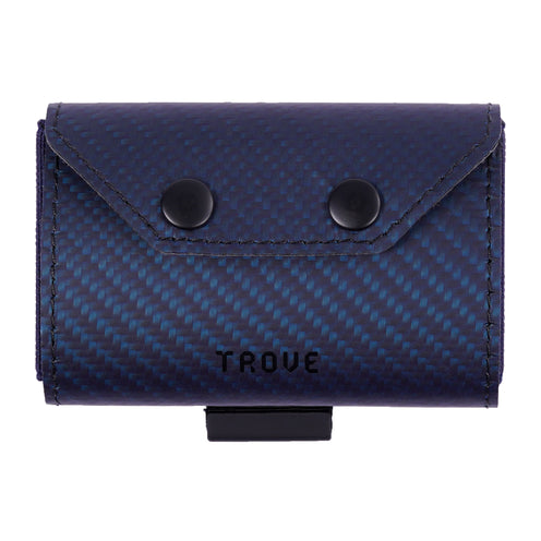 TROVE Coin Caddy: Blue Carbon Fibre