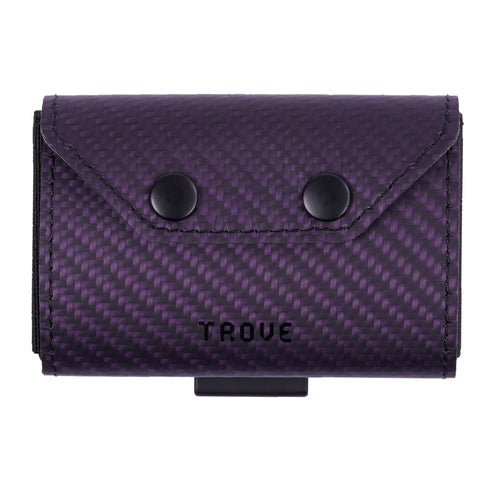 TROVE Coin Caddy: Purple Carbon Fibre