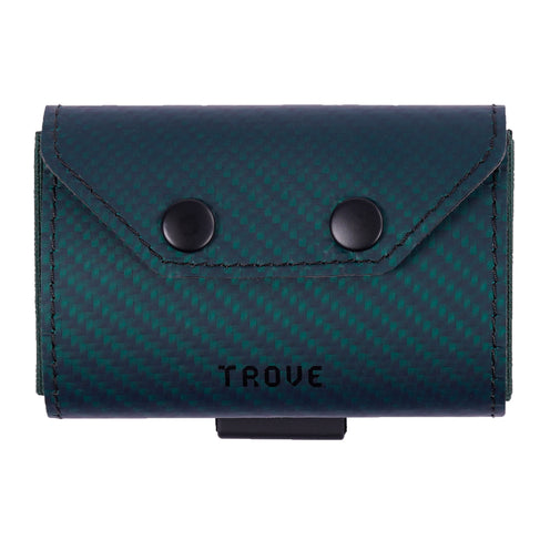 TROVE Coin Caddy: Green Carbon Fibre