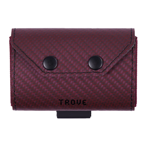 TROVE Coin Caddy: Red Carbon Fibre