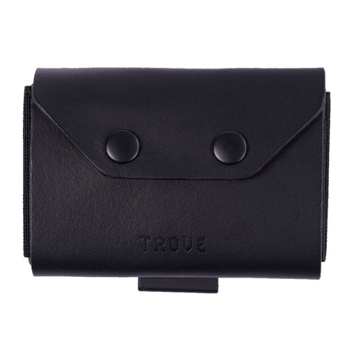 TROVE Coin Caddy: Black Leather