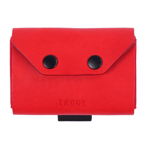 TROVE Coin Caddy: Red Leather