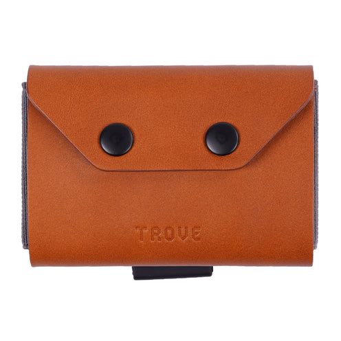 TROVE Coin Caddy: Tan Leather