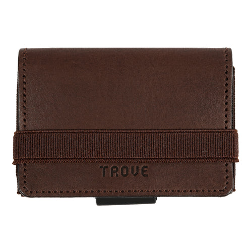 TROVE Cash Wrap: Brown Leather