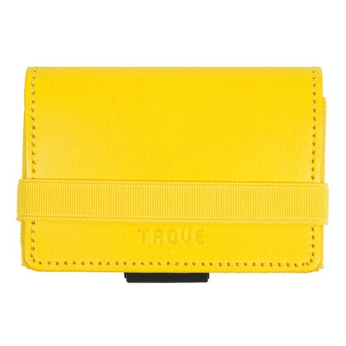 TROVE Cash Wrap: Yellow Leather