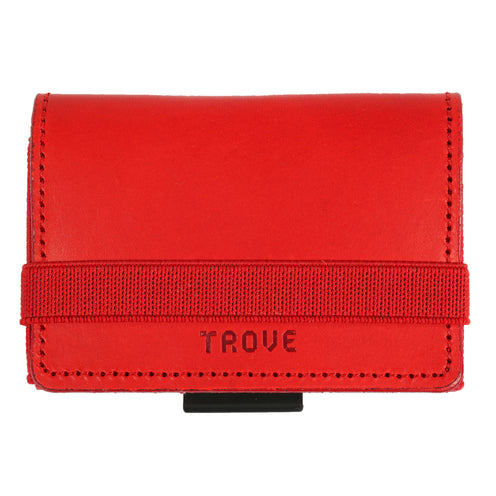 TROVE Cash Wrap: Red Leather