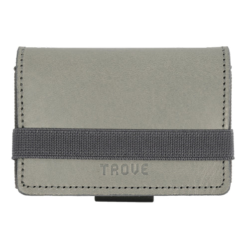 TROVE Cash Wrap: Grey Leather