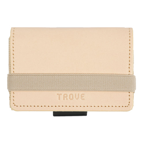 TROVE Cash Wrap: Beige Leather